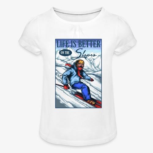 Ski Life - T-shirt à fronces au col Fille