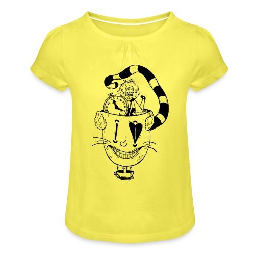 Alice in Wonderland - Girl's T-Shirt with Ruffles