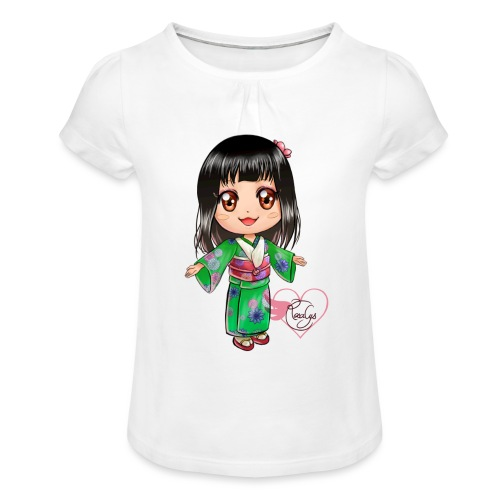 Rosalys crossing - T-shirt à fronces au col Fille