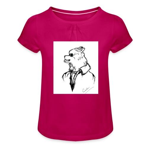 InkedThe Dog style bak LI - Camiseta para niña con drapeado