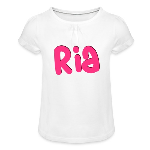 Ria Roo 3D - Girl's T-Shirt with Ruffles