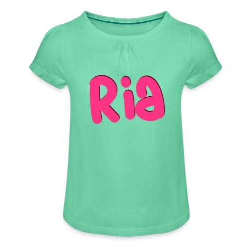 Ria Roo 3D - Girl's T-Shirt with Ruffles