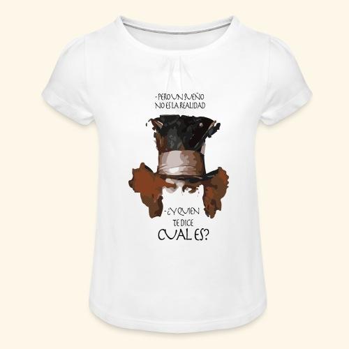 CUAL ES - Camiseta para niña con drapeado