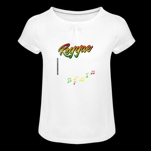 Reggae - Catch the Wave - Mädchen-T-Shirt mit Raffungen