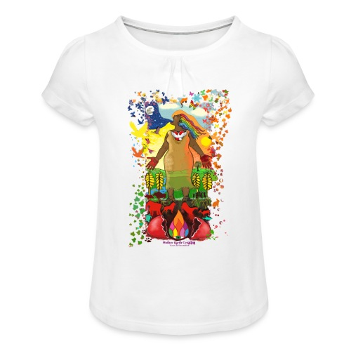 Mother Earth Creating - Meisjes-T-shirt met plooien