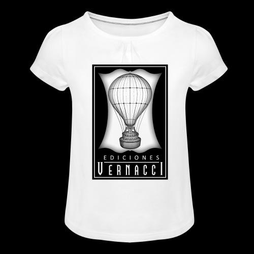 logotipo de ediciones Vernacci - Camiseta para niña con drapeado