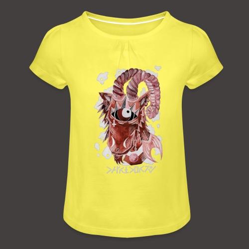 capricorne Négutif - T-shirt à fronces au col Fille