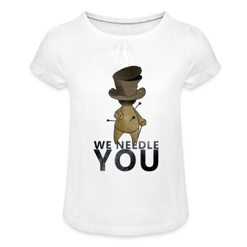 WE NEEDLE YOU - T-shirt à fronces au col Fille