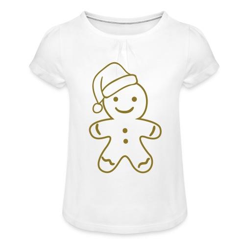 Gingerbread - Meisjes-T-shirt met plooien