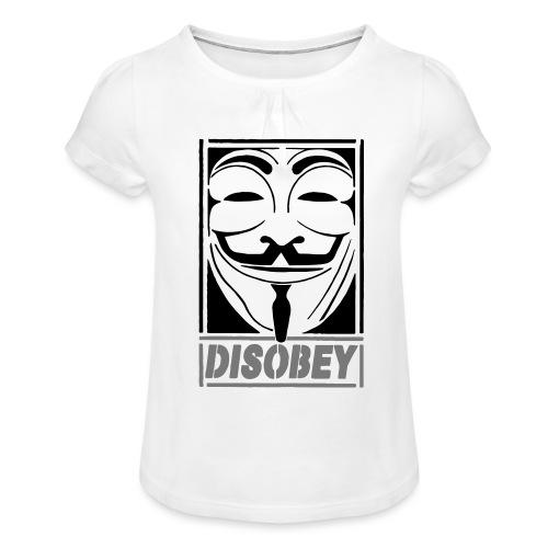 disobey - Pige T-shirt med flæser