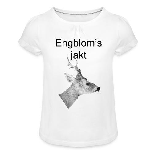 Officiell logo by Engbloms jakt - T-shirt med rynkning flicka
