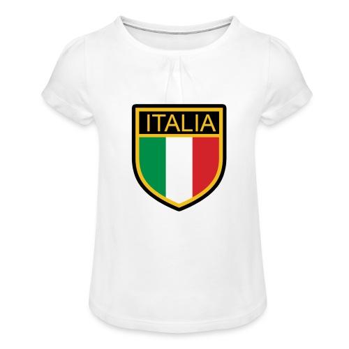 SCUDETTO ITALIA CALCIO - Maglietta da ragazza con arricciatura