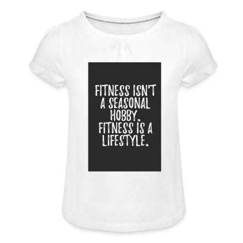 FITNESS IS A LIFESTYLE - Pige T-shirt med flæser