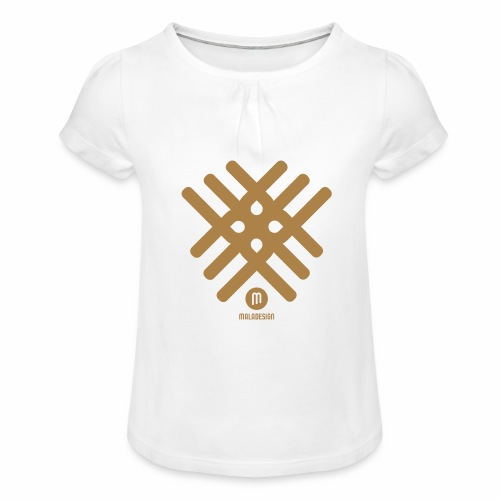 Maladesign - Tyttöjen t-paita, jossa rypytyksiä