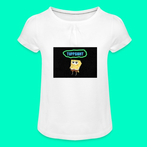 Topsight - T-shirt med rynkning flicka