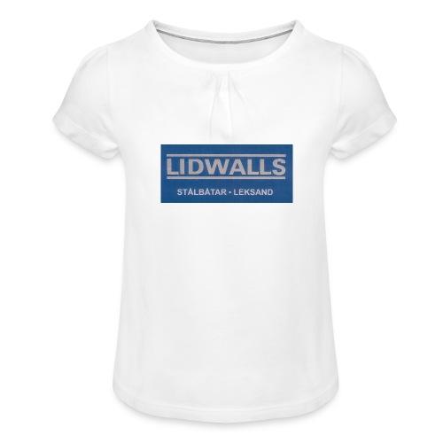 Lidwalls Stålbåtar - T-shirt med rynkning flicka