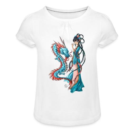 Blue Dragon - T-shirt à fronces au col Fille