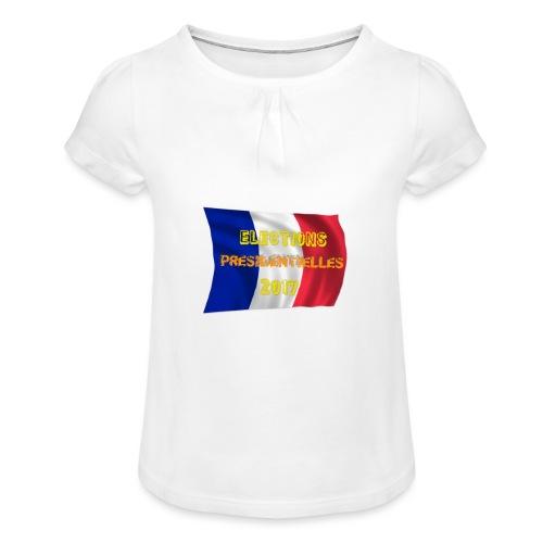 ELECTIONS 2017 - T-shirt à fronces au col Fille