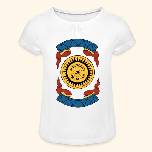 Moroccan Traveler - T-shirt à fronces au col Fille