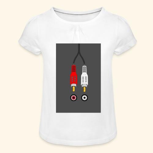 rca cable1 - Maglietta da ragazza con arricciatura