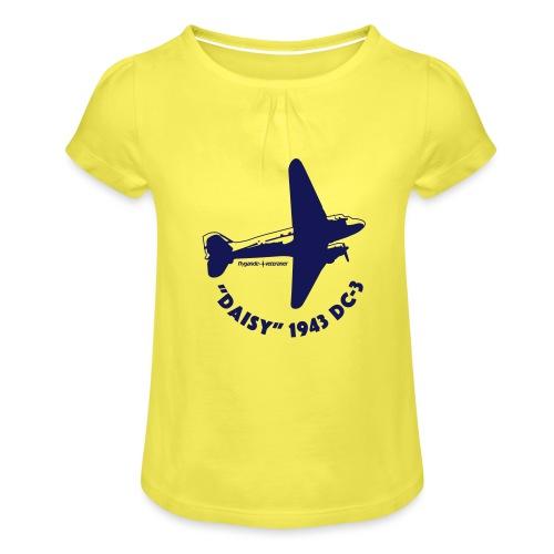 Daisy Flyover 1 - T-shirt med rynkning flicka