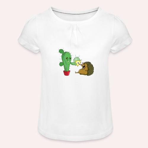 Best buddies - T-shirt à fronces au col Fille