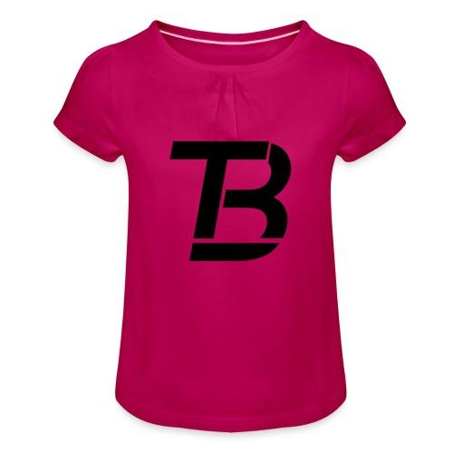 brtblack - Girl's T-Shirt with Ruffles