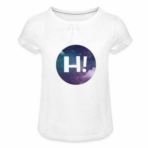 H! - Girl's T-Shirt with Ruffles