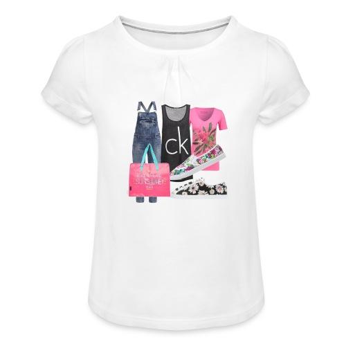 outfit pace e amoreio amo il colore - Maglietta da ragazza con arricciatura