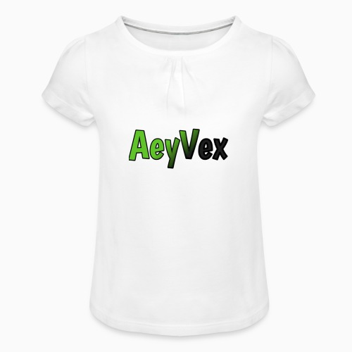 AeyVex Merch - Girl's T-Shirt with Ruffles