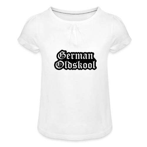 Grand Logo German Oldskool Official - T-shirt à fronces au col Fille
