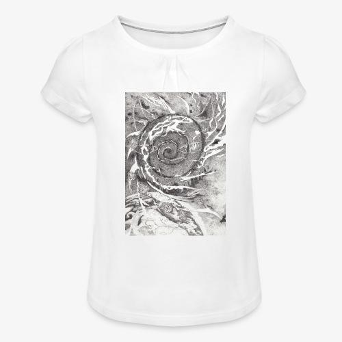 Decipher Entity by Rivinoya - Tyttöjen t-paita, jossa rypytyksiä