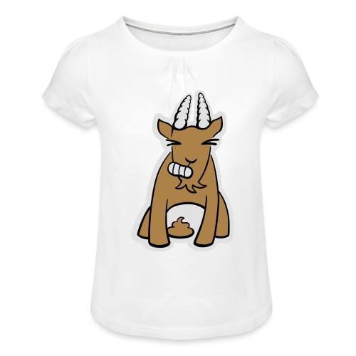 Scheissbock - Mädchen-T-Shirt mit Raffungen
