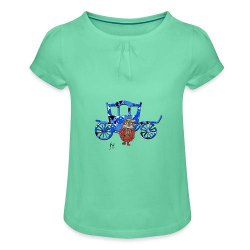 Mon carrosse - T-shirt à fronces au col Fille