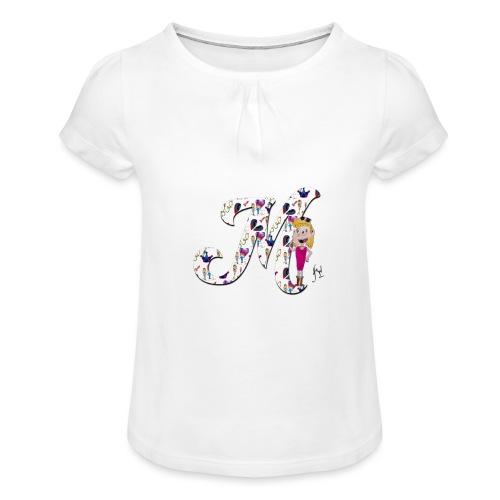 M comme merveilleuse - T-shirt à fronces au col Fille