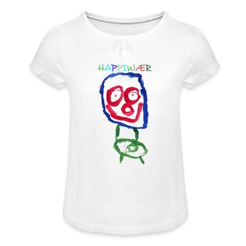 happiwær2 - Pige T-shirt med flæser