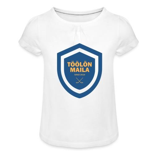 Töölön Maila - Tyttöjen t-paita, jossa rypytyksiä