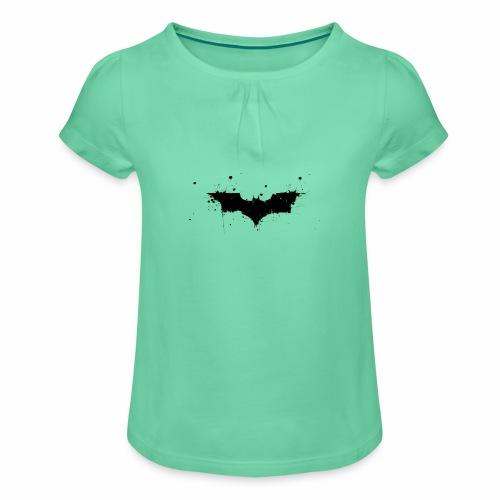 Fledermaus - Mädchen-T-Shirt mit Raffungen