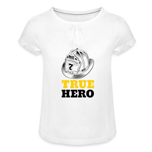 True Hero - Mädchen-T-Shirt mit Raffungen