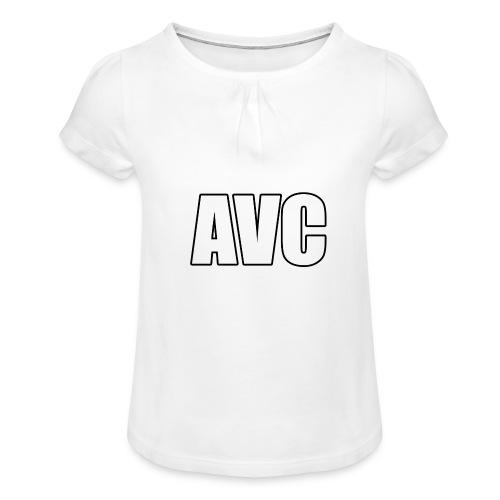 mer png - Meisjes-T-shirt met plooien
