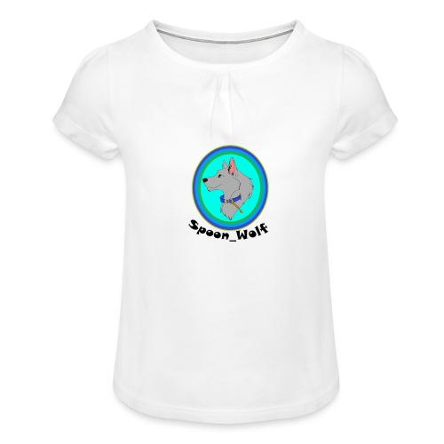Spoon_Wolf_2-png - Girl's T-Shirt with Ruffles