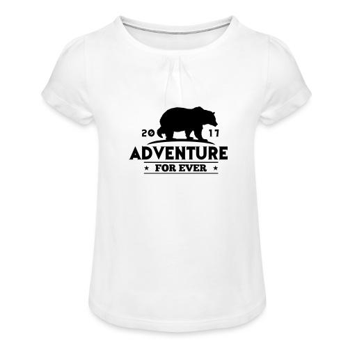 ADVENTURE FOR EVER - GRIZZLY - Maglietta da ragazza con arricciatura