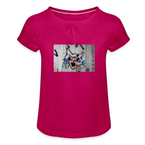 26178051 10215296812237264 806116543 o - T-shirt à fronces au col Fille