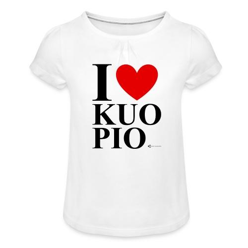 I LOVE KUOPIO ORIGINAL (musta) - Tyttöjen t-paita, jossa rypytyksiä