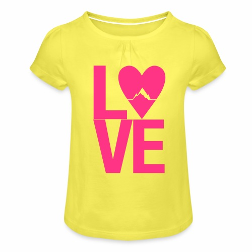 Mountain Love - Mädchen-T-Shirt mit Raffungen