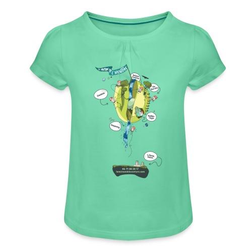 T-shirt Maison de L'aventure - T-shirt à fronces au col Fille
