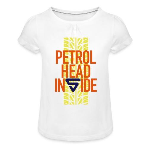 Petrolhead inside - T-shirt à fronces au col Fille