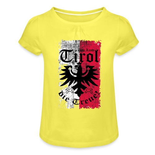 Tirol - Mädchen-T-Shirt mit Raffungen