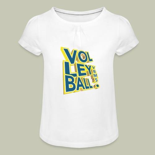 logo 3D - T-shirt à fronces au col Fille