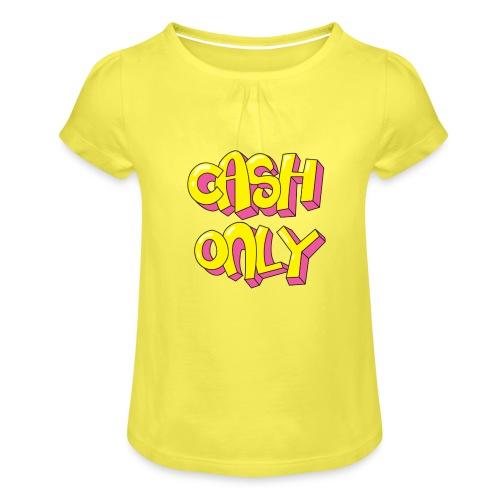 Cash only - Meisjes-T-shirt met plooien